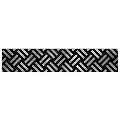 Woven2 Black Marble & Gray Metal 2 Flano Scarf (small)