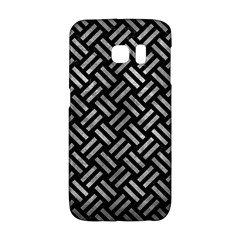 Woven2 Black Marble & Gray Metal 2 Galaxy S6 Edge