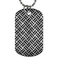 Woven2 Black Marble & Gray Metal 2 (r) Dog Tag (two Sides)