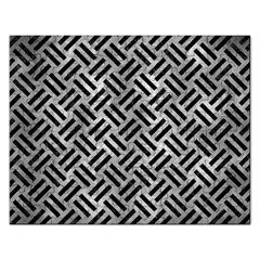 Woven2 Black Marble & Gray Metal 2 (r) Rectangular Jigsaw Puzzl
