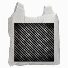 Woven2 Black Marble & Gray Metal 2 (r) Recycle Bag (one Side)