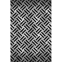 Woven2 Black Marble & Gray Metal 2 (r) 5 5  X 8 5  Notebooks