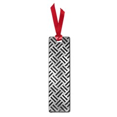 Woven2 Black Marble & Gray Metal 2 (r) Small Book Marks