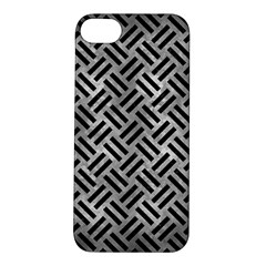 Woven2 Black Marble & Gray Metal 2 (r) Apple Iphone 5s/ Se Hardshell Case