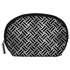 Woven2 Black Marble & Gray Metal 2 (r) Accessory Pouches (large)