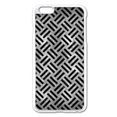 Woven2 Black Marble & Gray Metal 2 (r) Apple Iphone 6 Plus/6s Plus Enamel White Case