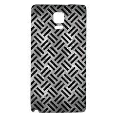 Woven2 Black Marble & Gray Metal 2 (r) Galaxy Note 4 Back Case