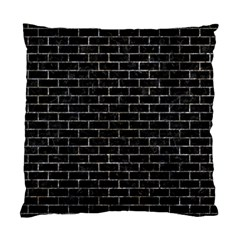 Brick1 Black Marble & Gray Stone Standard Cushion Case (two Sides)