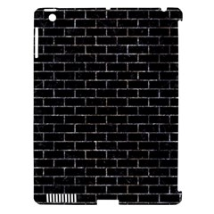 Brick1 Black Marble & Gray Stone Apple Ipad 3/4 Hardshell Case (compatible With Smart Cover)
