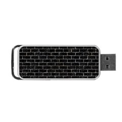 Brick1 Black Marble & Gray Stone Portable Usb Flash (two Sides)