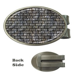 Brick1 Black Marble & Gray Stone (r) Money Clips (oval)