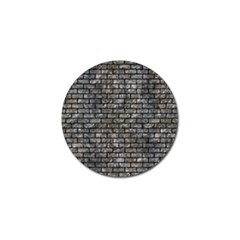 Brick1 Black Marble & Gray Stone (r) Golf Ball Marker (4 Pack)