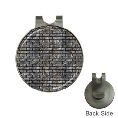 Brick1 Black Marble & Gray Stone (r) Hat Clips With Golf Markers