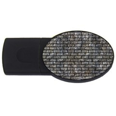Brick1 Black Marble & Gray Stone (r) Usb Flash Drive Oval (4 Gb)