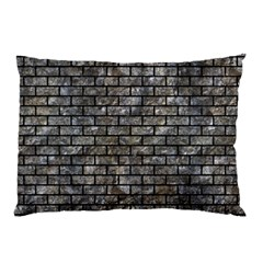 Brick1 Black Marble & Gray Stone (r) Pillow Case