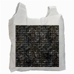 Brick1 Black Marble & Gray Stone (r) Recycle Bag (two Side)