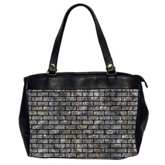 Brick1 Black Marble & Gray Stone (r) Office Handbags (2 Sides)