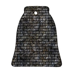 Brick1 Black Marble & Gray Stone (r) Bell Ornament (two Sides)