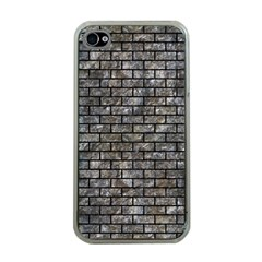 Brick1 Black Marble & Gray Stone (r) Apple Iphone 4 Case (clear)