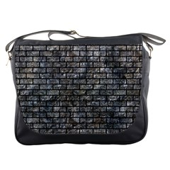 Brick1 Black Marble & Gray Stone (r) Messenger Bags