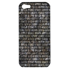 Brick1 Black Marble & Gray Stone (r) Apple Iphone 5 Hardshell Case