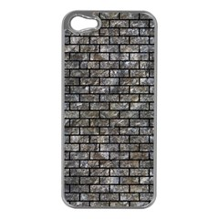 Brick1 Black Marble & Gray Stone (r) Apple Iphone 5 Case (silver)