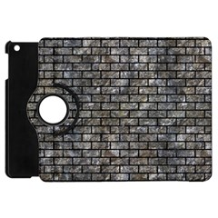 Brick1 Black Marble & Gray Stone (r) Apple Ipad Mini Flip 360 Case