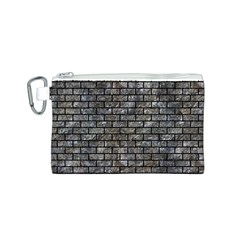 Brick1 Black Marble & Gray Stone (r) Canvas Cosmetic Bag (s)