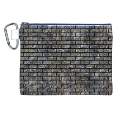Brick1 Black Marble & Gray Stone (r) Canvas Cosmetic Bag (xxl)