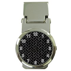 Brick2 Black Marble & Gray Stone Money Clip Watches
