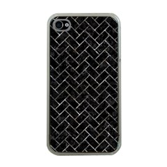 Brick2 Black Marble & Gray Stone Apple Iphone 4 Case (clear)
