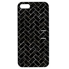 Brick2 Black Marble & Gray Stone Apple Iphone 5 Hardshell Case With Stand