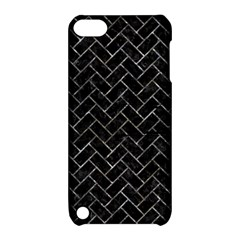 Brick2 Black Marble & Gray Stone Apple Ipod Touch 5 Hardshell Case With Stand