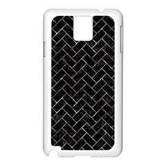 Brick2 Black Marble & Gray Stone Samsung Galaxy Note 3 N9005 Case (white)