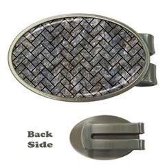 Brick2 Black Marble & Gray Stone (r) Money Clips (oval)