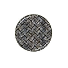 Brick2 Black Marble & Gray Stone (r) Hat Clip Ball Marker (4 Pack)