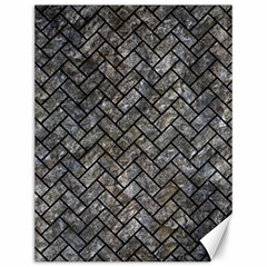 Brick2 Black Marble & Gray Stone (r) Canvas 12  X 16