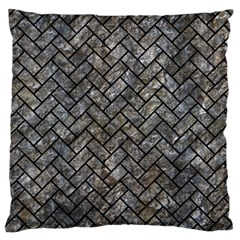 Brick2 Black Marble & Gray Stone (r) Large Cushion Case (two Sides)