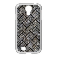 Brick2 Black Marble & Gray Stone (r) Samsung Galaxy S4 I9500/ I9505 Case (white)
