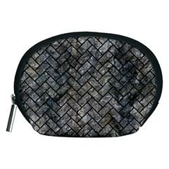 Brick2 Black Marble & Gray Stone (r) Accessory Pouches (medium)