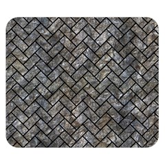 Brick2 Black Marble & Gray Stone (r) Double Sided Flano Blanket (small)