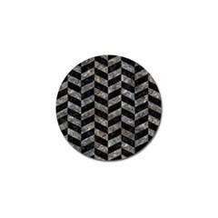 Chevron1 Black Marble & Gray Stone Golf Ball Marker (10 Pack)