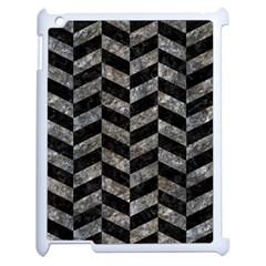 Chevron1 Black Marble & Gray Stone Apple Ipad 2 Case (white)