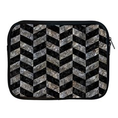 Chevron1 Black Marble & Gray Stone Apple Ipad 2/3/4 Zipper Cases