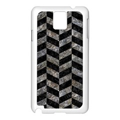 Chevron1 Black Marble & Gray Stone Samsung Galaxy Note 3 N9005 Case (white)