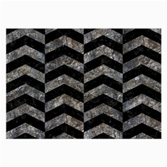 Chevron2 Black Marble & Gray Stone Large Glasses Cloth (2 Side)