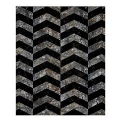 Chevron2 Black Marble & Gray Stone Shower Curtain 60  X 72  (medium)