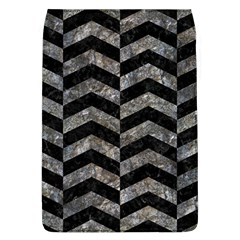Chevron2 Black Marble & Gray Stone Flap Covers (l)