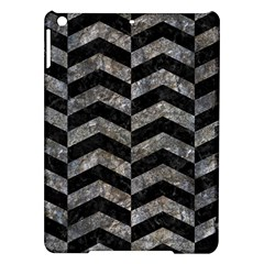 Chevron2 Black Marble & Gray Stone Ipad Air Hardshell Cases