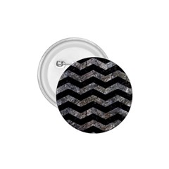 Chevron3 Black Marble & Gray Stone 1 75  Buttons